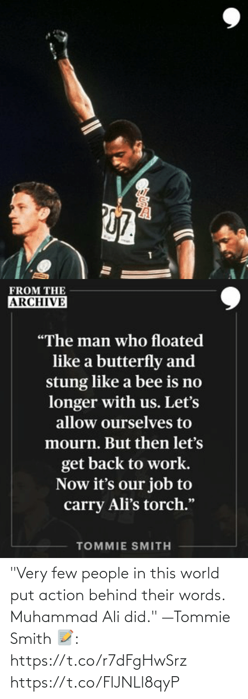 """Ali, Memes, and Muhammad Ali: """"Very few people in this world put action behind their words. Muhammad Ali did."""" —Tommie Smith   📝: https://t.co/r7dFgHwSrz https://t.co/FlJNLl8qyP"""