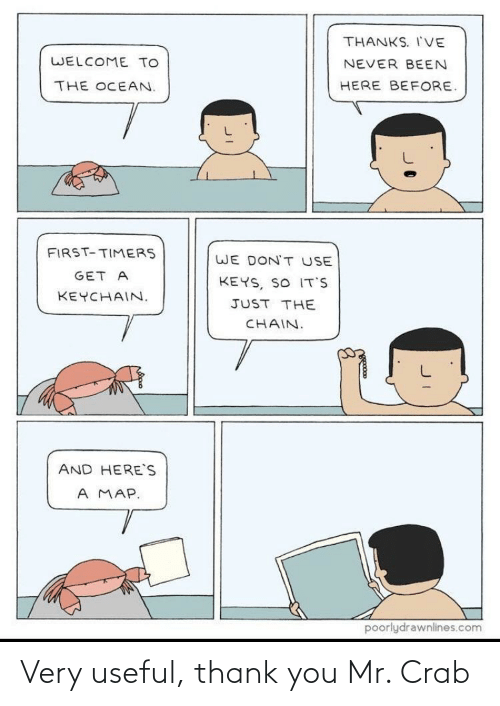 Thank You, Crab, and You: Very useful, thank you Mr. Crab