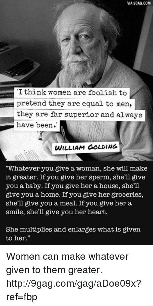 Whatever woman a william you golding give William Golding