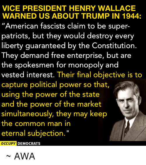vice president henry wallace warned us about trump in 1944 9468891 vice president henry wallace warned us about trump in 1944 american
