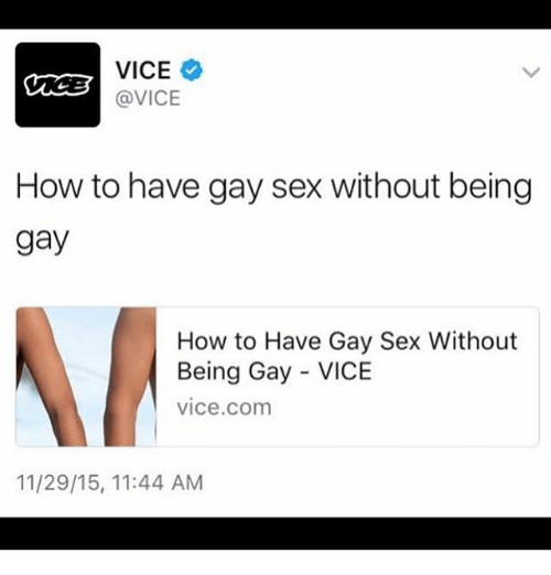 Gay without a gay