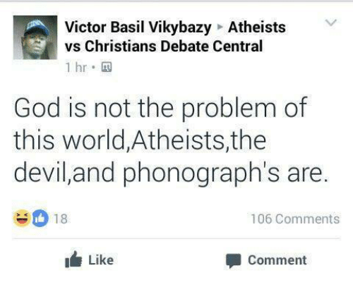 victor basil vikybazy atheists vs christians debate central 1 hr 14441783 ✅ 25 best memes about atheist vs christian atheist vs