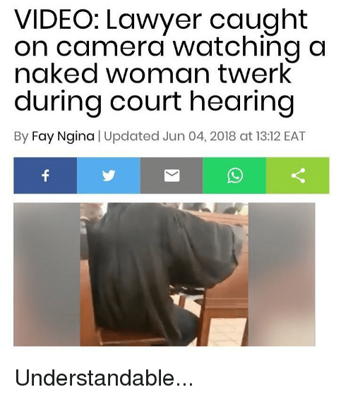 Naked women caught on video me