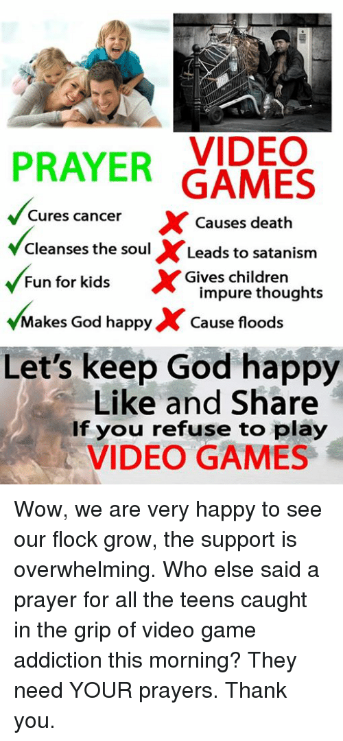 VIDEO PRAYER GAMES Cures Cancer X Causes Death Cleanses the