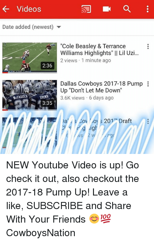 Dallas Cowboys, Friends, and Memes: Videos Date added (newest) Cole Beasley