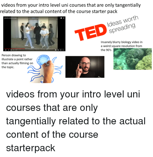 Videos From Your Intro Level Uni Courses That Are Only