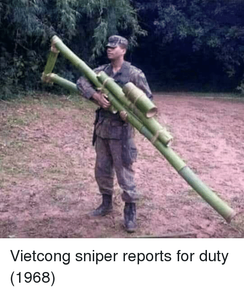 Sniper, For, and Vietcong: Vietcong sniper reports for duty (1968)