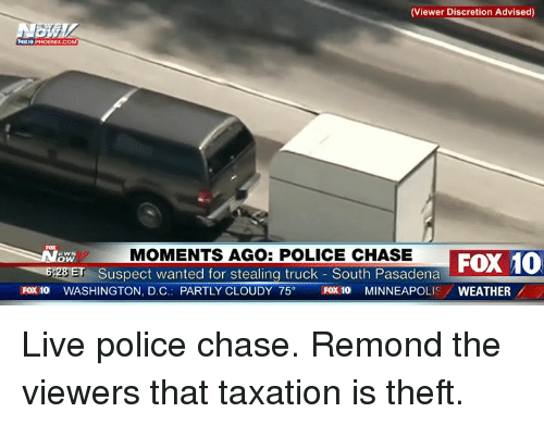 Viewer Discretion Advised 0 PHOENIX MOMENTS AGO POLICE CHASE Suspect