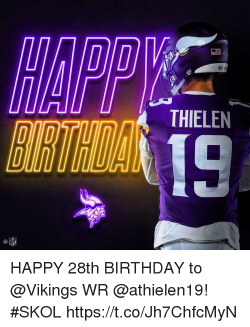 Viir Thielen 19 C At Nfl Happy 28th Birthday To Wr Skol