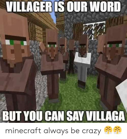 Villager Is Our Word But You Can Say Villaga Minecraft Always Be