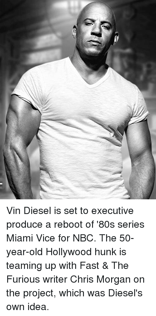 Vin Diesel Is Set to Executive Produce a Reboot of \'80s Series Miami ...