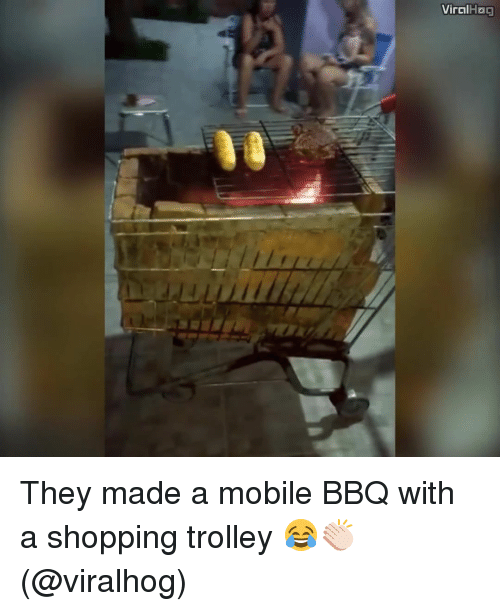 Memes, Trolley, and 🤖: Viral  Hoa They made a mobile BBQ with a shopping trolley 😂👏🏻 (@viralhog)