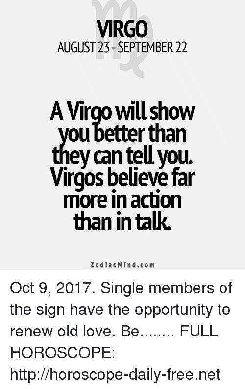 today horoscope virgo love single