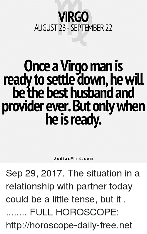 Whats it like dating a virgo man