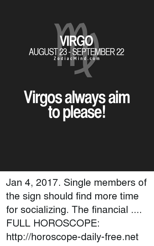 virgo horoscope born january 4