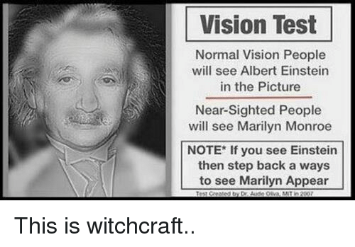 Vision Test Normal Vision People Will See Albert Einstein in the ... 431386634570