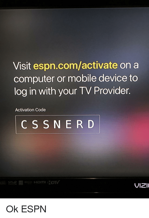 Visit Espncomactivate on a Computer or Mobile Device to Log in With