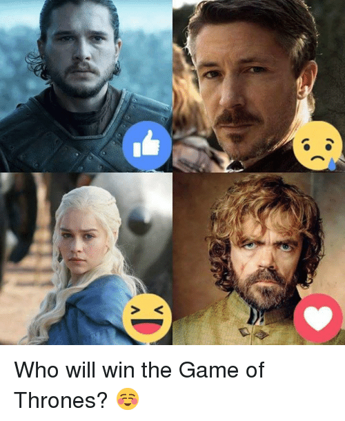 Game of Thrones, Memes, and 🤖: vn<.  找 Who will win the Game of Thrones? ☺