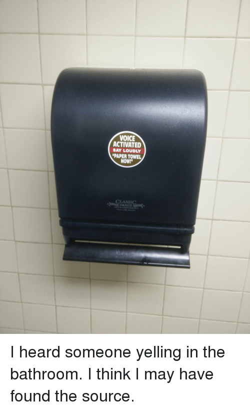 Voice Activated Say Loudly Paper Towel Now Classic