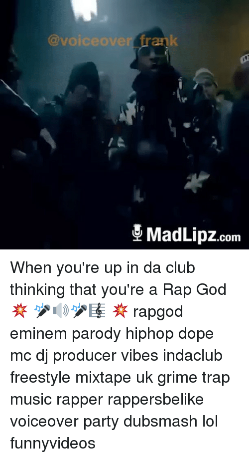 Club Dope And Eminem Voiceover Rank Com When Youre