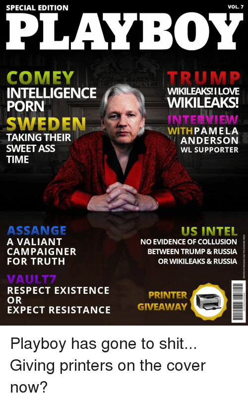 Ass Respect And Shit Vol 7 Special Edition Playboy Comey Trump Intelligence