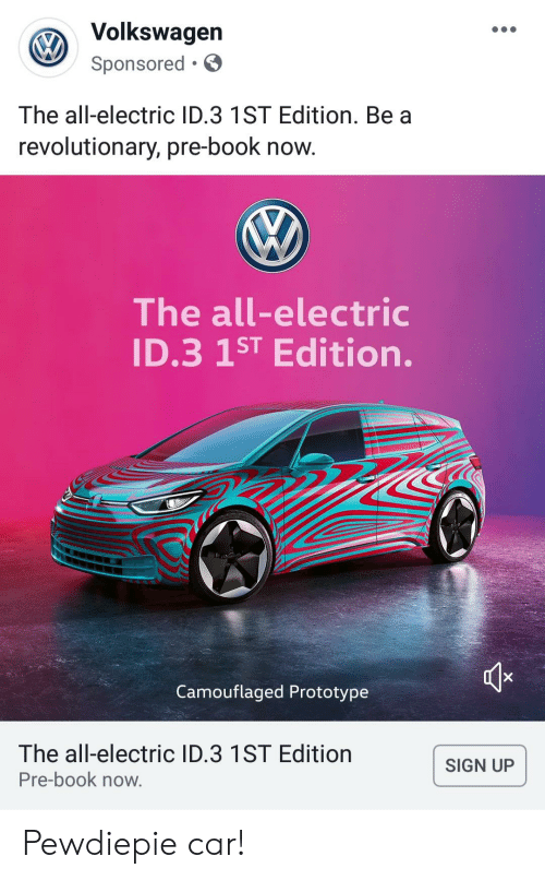 Volkswagen Sponsored the All-Electric ID3 1ST Edition Be a