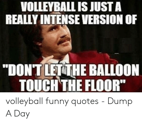VOLLEYBALL IS JUST a REALLY INTENSE VERSION OF DONT LET THE ...