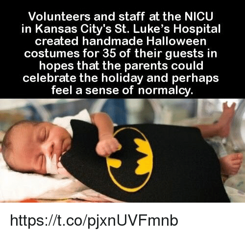 halloween memes and citi volunteers and staff at the nicu in kansas citys