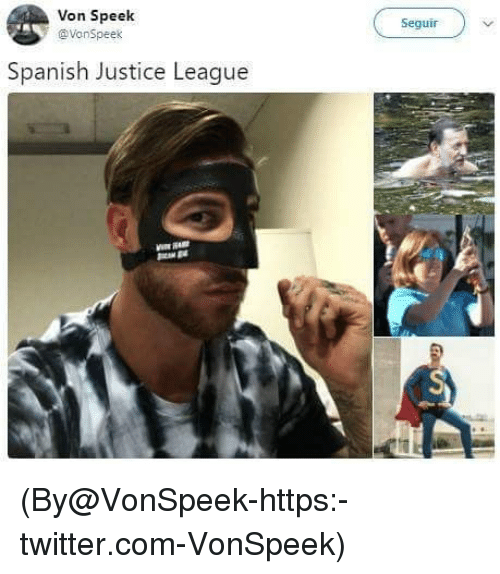 Spanish, Twitter, and Justice: Von Speelk  @VonSpees  Seguir  Spanish Justice League (By@VonSpeek-https:-twitter.com-VonSpeek)