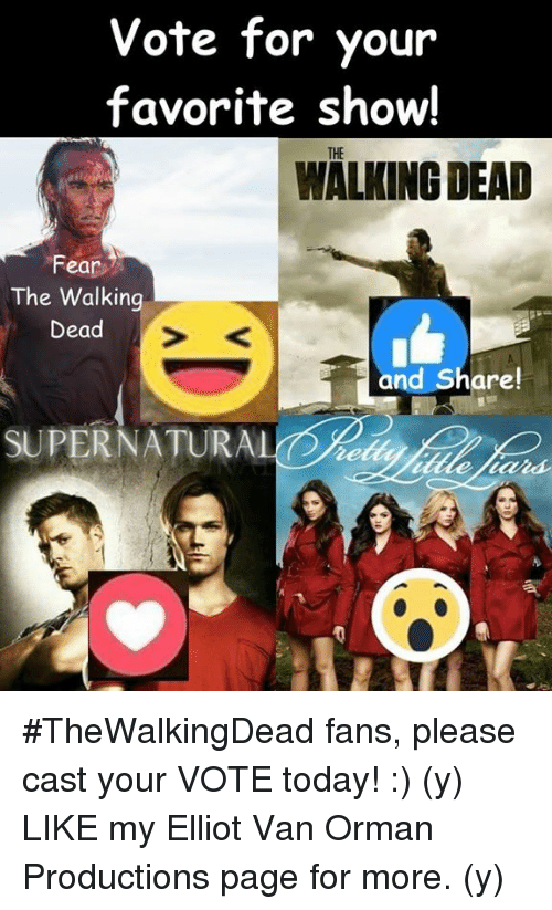 69529dd614c175 Vote for Your Favorite Show! WALKING DEAD Fear the Walking Dead and ...