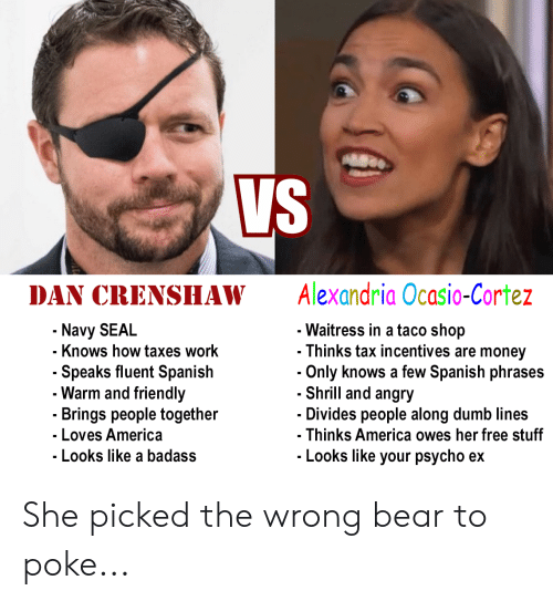 Vs DAN CRENSHAW Alexandria Ocasio-Cortez Navy SEAL Knows How