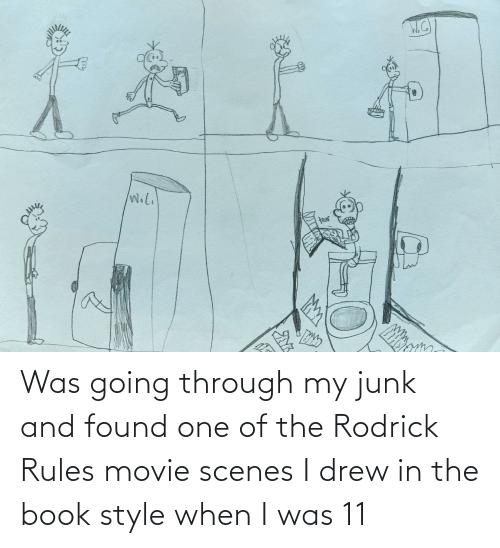 Book, Movie, and One: W.l.  ২২ Was going through my junk and found one of the Rodrick Rules movie scenes I drew in the book style when I was 11