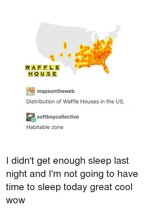 WAFFLE HOUSE Mapsontheweb Distribution of Waffle Houses in the US ...