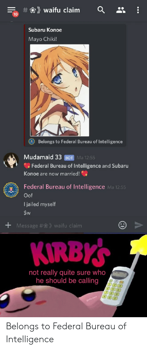 Waifu Claim 10 Subaru Konoe Mayo Chiki! Belongs to Federal