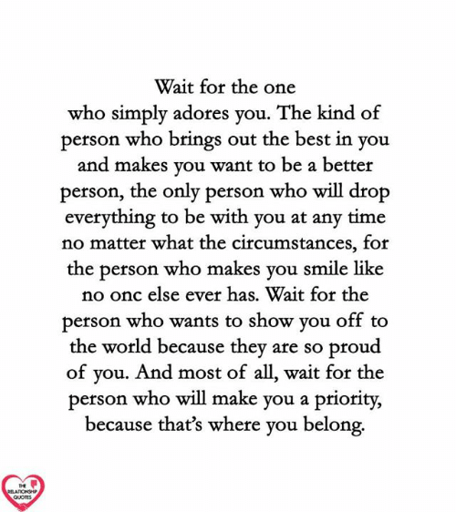 Wait For The One Who Simply Adores Vou The Kind Of Person Who Brings