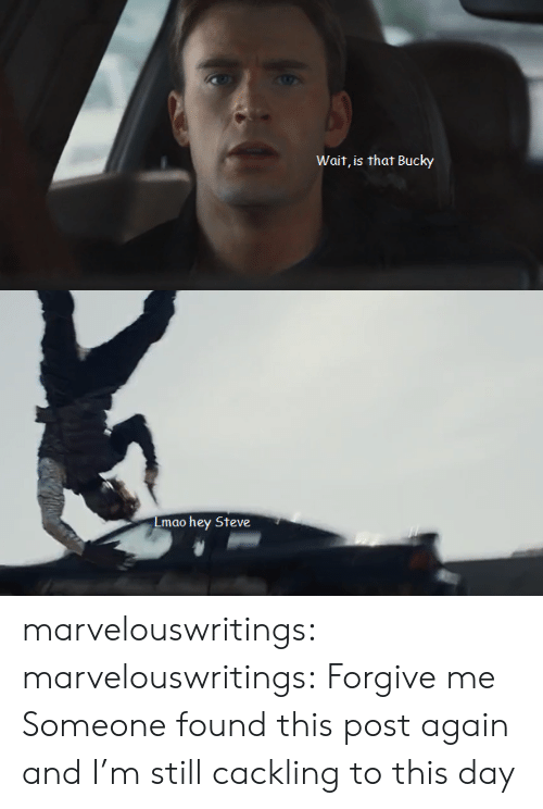 Lmao, Target, and Tumblr: Wait, is that Bucky   Lmao  hey Steve marvelouswritings:  marvelouswritings:  Forgive me  Someone found this post again and I'm still cackling to this day