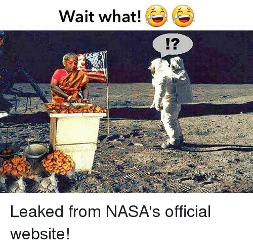 Memes, 🤖, and Leaks: Wait what! Leaked from NASA's official website!