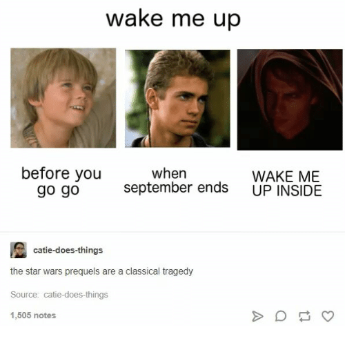 star wars star and classical wake me up before you go go when
