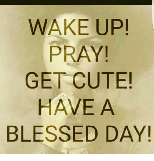 blessed cute and memes wake up pray get cute have
