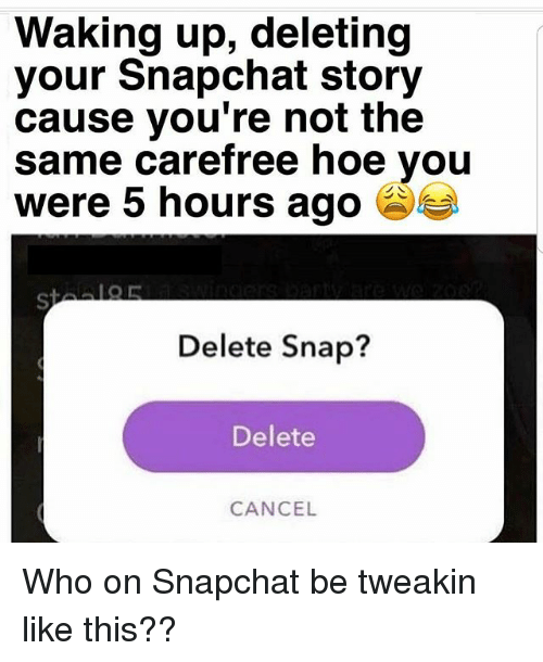 how to delete snap story on new update