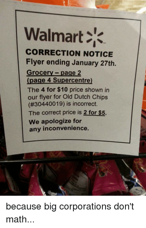 Walmart CORRECTION NOTICE Flyer Ending January 27th Grocery-Page 2