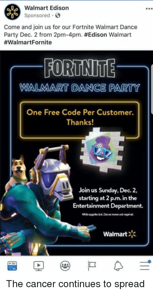 Walmart Edison Sponsored Come and Join Us for Our Fortnite