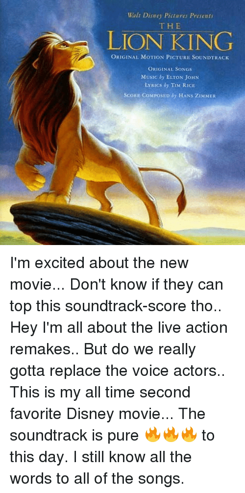 Walt Disney Pictures Presents THE LION KING ORIGINAL MOTION PICTURE