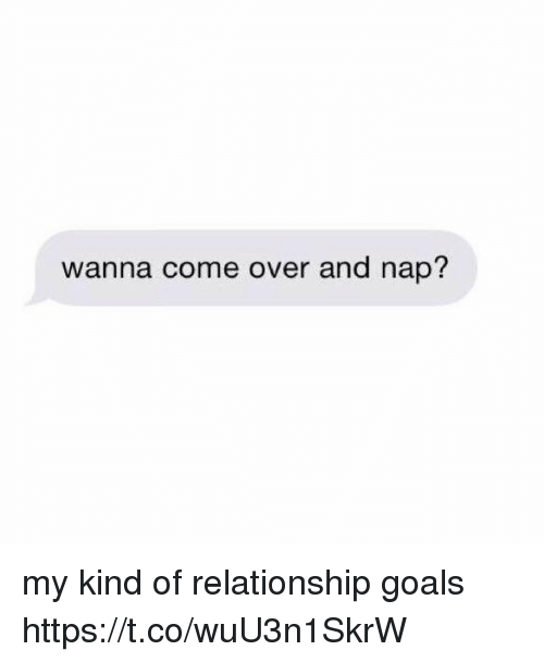 Come Over, Goals, and Relationship Goals: wanna come over and nap? my kind of relationship goals https://t.co/wuU3n1SkrW