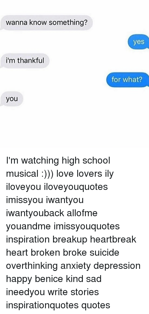 High School Musical, Love, And Memes: Wanna Know Something? Iu0027m