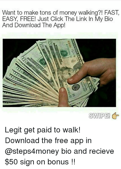 Click Memeoney Want To Make Tons Of Money Walking