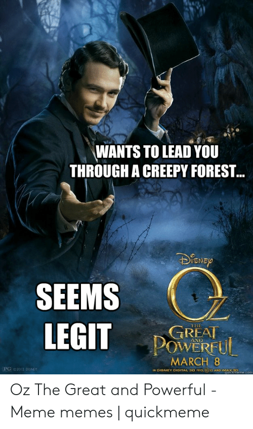 WANTS TO LEAD YOU THROUGH a CREEPY FOREST SEEMS LEGIT THE
