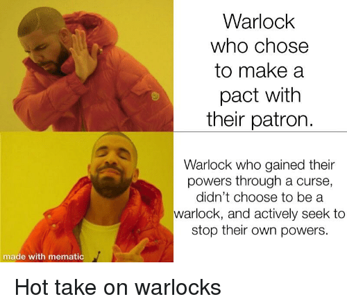 Warlock Who Chose to Make a Pact With Their Patron Warlock Who