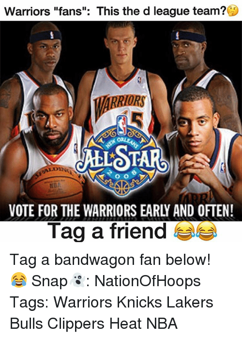 Warriors Fans This The D League Team Marriors Vote For The Warriors