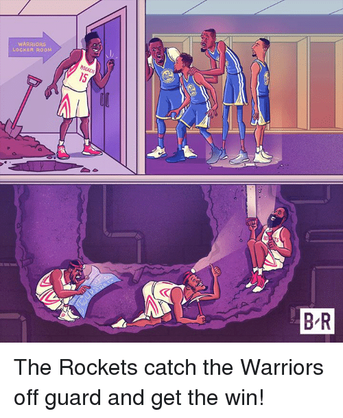 Warriors, The Warriors, and Rockets: WARRIORS  LOCKER ROOM The Rockets catch the Warriors off guard and get the win!
